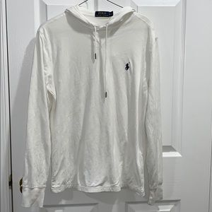 Polo by Ralph Lauren White Hooded LongSleeve Small
